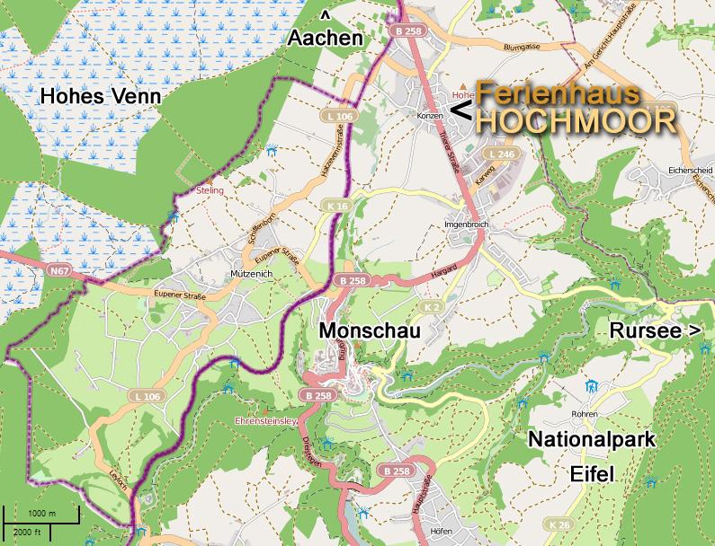 Nationalpark Eifel Karte.Ferienhaus Hochmoor